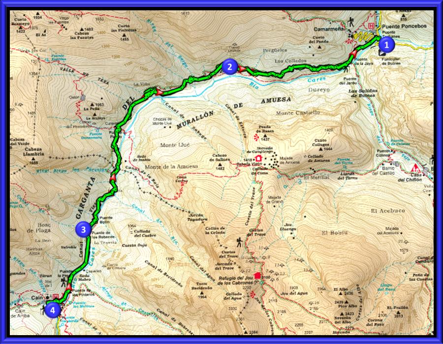 Ruta Del Cares Mapa.Ruta Del Cares